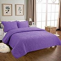 WYFC Cómoda funda de almohada de 2 piezas 1 pieza de edredón liso 100% algodón acolchado multicolor de 230 * 250 cm / 250 * 270 cm . e . 250*270cm