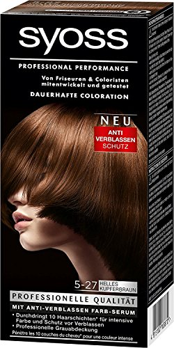Syoss Professional Performance Coloration Nr. 5-27 helles Kupferbraun Set-Inhalt: 115ml Dauerhafte Coloration