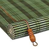 Yuan-Jalousien Rollo Bambus Vorhang - natürliche Nanmu Kordelzug Bambus Vorhang staubdicht und wasserdicht hohlen Tee Zimmer Shutter [3 Farben 19 Größen] /& (Farbe : Green, größe : 50x180CM)