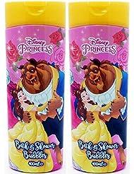 x2 Disney Princess Beauty & the Beast Bath and Shower Bubbles 400ml