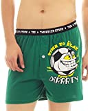 The Boxer Store Mens Cotton Boxer Shorts -Green -Small