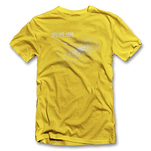You Are Here Milkyway T-Shirt S-XXL 12 Colori / Colours Giallo