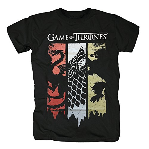 TSP Games of Thrones - Sigils Banner T-Shirt Herren S Schwarz