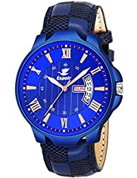 7b442df8bbe Espoir Analogue Blue Dial Day and Date Boy s and Men s Watch -  CheckDartRay0507