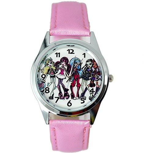 Armbanduhr W1 Monster High von Taport® für Mädchen, mit Ersatzbatterie und Geschenktasche