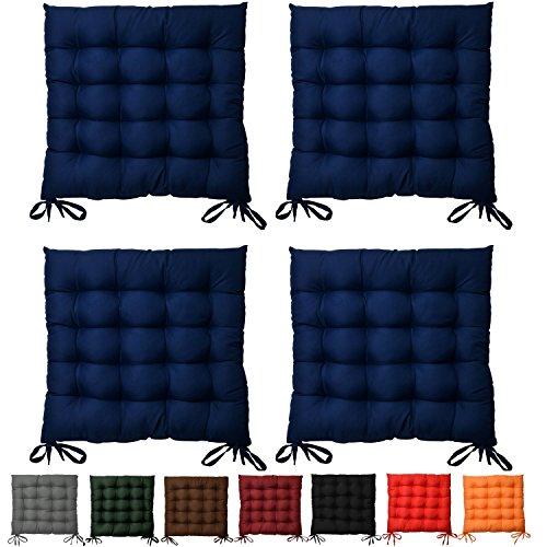 Set da 4 comodi cuscini da sedia, Lea - soffici