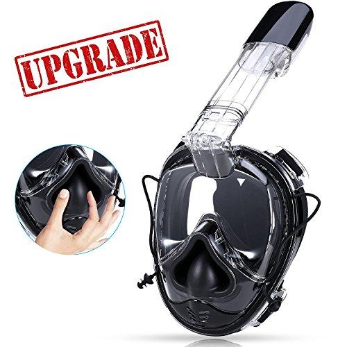 Máscara de Buceo para Snorkel, Máscara Facial Completa, Seaview 180°,Máscara Easybreath, Anti-Vaho Anti-Fuga, Cámara GoPro, Tamaño Universal para Todos los Adultos y Niños