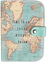 Sass and Belle - Monedero para pasaporte con mapamundi