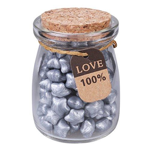Siegellack Perlen Flasche Stempel Wachs in Sternform für Umschlag Briefkopf Versiegelung Geschenk (Silber) (Wachs-flaschen)