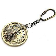 fe43a9a33583 Latón NAUTICALMART bolsillo reloj de sol brújula ...