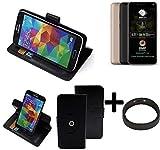 K-S-Trade® Case Schutz Hülle Für -Allview A9 Plus- + Bumper Handyhülle Flipcase Smartphone Cover Handy Schutz Tasche Walletcase Schwarz (1x)
