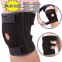 4XL 5XL Rodillera para Talla grande, ajuste para ajustar las piernas grandes, estabilizador ajustable que brinda una gran ayuda para aliviar el dolor, ACL, MCL, desgarro de menisco, artritis, jogging
