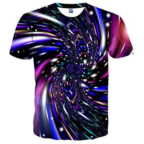 Syaimn Unisex 3D Pattern Print Kurzarm TShirts Beiläufige Grafik TShirts  Multicoloured 22