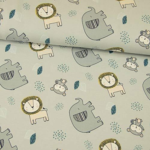 sustancias Werning algodón Jersey Organic Cotton Little Elefante & León Gris Claro...