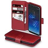 Galaxy S8 Hülle, Terrapin [ECHT LEDER] Brieftasche Case Hülle mit Standfunktion Kartenfächer und Bargeld für Samsung Galaxy S8 Hülle Rot