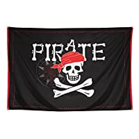 Skull and Crossbones Flag Halloween - 200 x 300 cm   Pirate Flag XXL Pirate Party   Wall Decoration for Halloween   Party Table Decoration