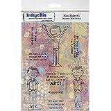"IndigoBlu Cling Mounted Stamp 8""X5.5""-Mini Mike 1"