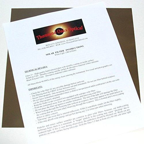 Thousand Oaks BP-8511 Optischer Polymer-Solar-Filter, 21,6 x 27,9 cm, Silber-Schwarz