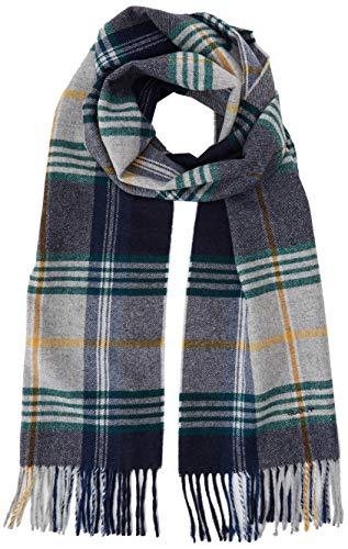 GANT Herren D2. TWILL CHECKED WOOL SCARF Schal, Grau (Light Grey Melange 94), One Size (Herstellergröße: Oversize)