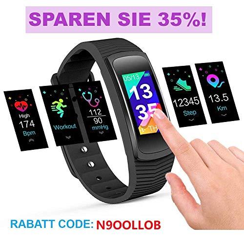 icefox Unisex Adult Trackers, Smart Fitness Armband Uhr, Wasserdicht IP67 Bluetooth Aktivitätstracker mit Pulsmesser|Herzfrequenzmonitor|Schlafmonitor|Schrittzähler|...