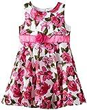 Happy Girls geblümtes Sommerkleid mit Taillenband, Gr. 92, Rosa (pink 36)