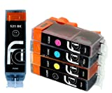 5 Compatible CLI526, PGI525, Printing Ink Cartridges - NEW WITH CHIP INSTALLED NO FUSS - Multipack Set of 5 Compatible Printer Ink Cartridges for CANON PIXMA iP4850, iP4950, MG5150, MG5250, MG5350, MG6150, MG6220, MG6250, MG8150, MG8220, MG8250, MX715, MX885, IX6550 Printer Inks PGI 525BK, CLI 526Y, CLI 526M, CLI 526C, CLI 526BK,) High Capacity Inks