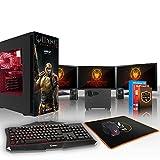 Fierce RANGER Quake Champions RGB/RVB PC Gamer Paquet - Vite 8 x 3.8GHz Octa-Core AMD Ryzen 7 1700X, 2To Seagate FireCuda SSHD, 16Go of 2133MHz DDR4 RAM / Mémoire, AMD Radeon RX 570 4Go, Gigabyte Aorus AX370-Gaming 5 Carte Mère, GameMax Obsidian with 'Quake Champions' Ranger HD Armour RGB/RVB Boite D'ordinateur, HDMI, USB3, Wi - Fi, Parfait pour les jeux haut de gamme, Windows 10 installé, Clavier (UK/QWERTY), Souris, 3x moniteurs 24 pouces, haut-parleurs, 3 Ans De Garantie 814199