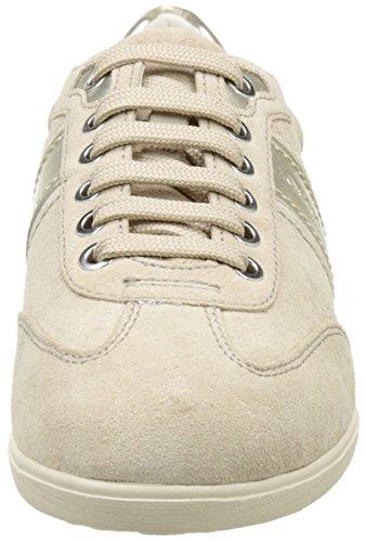 Geox Damen D Myria A Sneakers Beige (LT TAUPE/LT GOLDCH62L)
