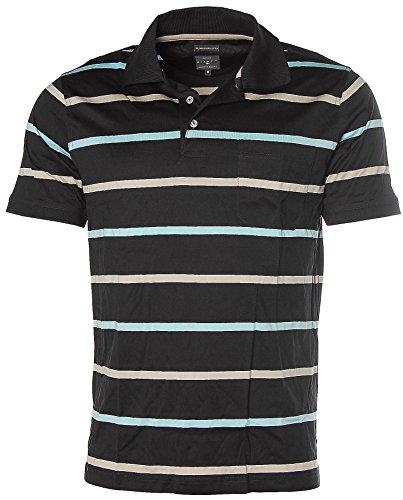 Kitaro Herren Kurzarm Shirt Poloshirt Streifen Navy/Hellblau/Beige
