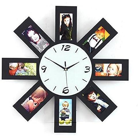 jinrou moderno/antiguo moderno Creative Fashion relojes y relojes, productos electrónicos cuando Marco de fotos reloj de pared reloj de silencio salón decoración
