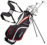 Wilson Men's Stretch Right Hand, Begginer Complete Set, 10 golf clubs with stand bag, Multicolour, Standard Length