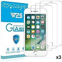 [3-Unidades] Protector de Pantalla iPhone 7 Plus / 6S Plus / 6 Plus, WZS Cristal Vidrio Templado Premium Para Apple iPhone 7 Plus / 6S Plus / 6 Plus [9H Dureza][Alta Definicion 0.33mm] [3D Touch Compatibles]