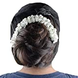 Kabello Gajra Hair Accessories (White)