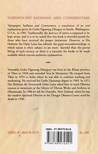 Libro Vajrayogini Sadhana and Commentary di Ngawang Dhargey