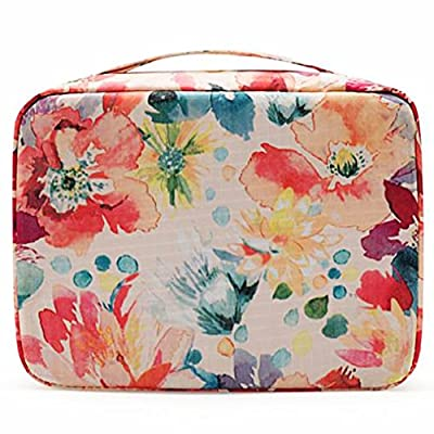 HiDay Travel Cosmetic Bag Toiletry Organizer Floral Makeup Pouch--Perfect for Your Cheerful Travel