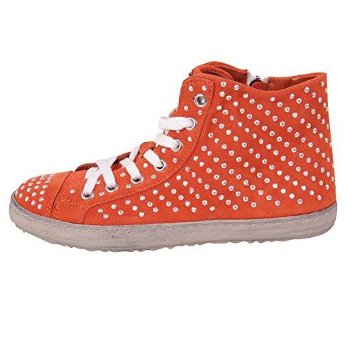 Francesco Milano donna High Top Sneaker in pelle Arancio F453T arancione 41