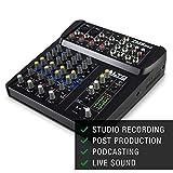ALTO Professional ZMX862 Mixer Portatile Professionale 6 Canali con 2 Jack XLR, Alimentazione Phantom + EQ + Aux in/out
