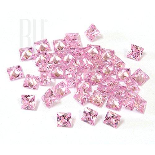 Be You Rose Couleur Zircone Cubique AAA Qualité Princesse Coupe Carré Forme gemme