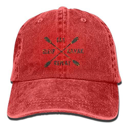 CrownLiny Eat Sleep River Kayak Adult Sport Adjustable Baseball Cap Cowboy Hat