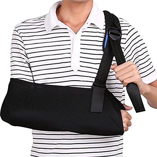 Fozela armschlinge schulter verstellbar, Atmungsaktiv & Leicht für Ruhigstellung und Stabilisierung des Arms im Anschluss an Verletzungen