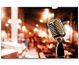 Retro – Mikrofon - Leinwandbild 120x80cm