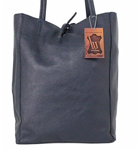 Leatherworld, Borsa tote donna, Dunkelblau (blu) - 4250736211973 Dunkelblau