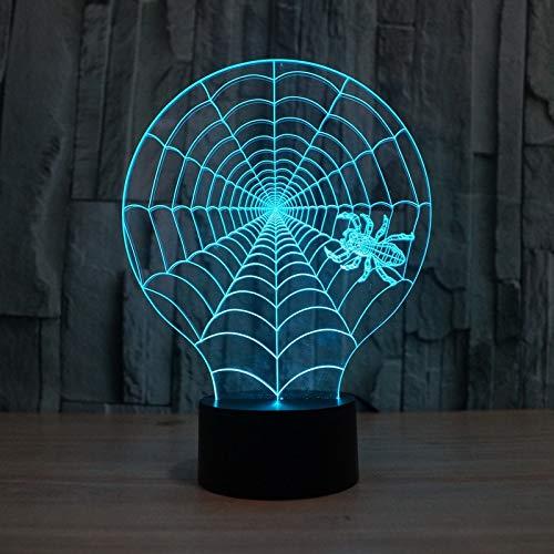 Aetd Schreibtischlampen Halloween Scary Party Szene Requisiten Buntes Nachtlicht Dehnbar Cobweb Spiders Web Net Horror Halloween Dekor Für Spukhaus (Halloween Leuchten Spider Web)