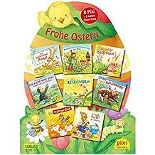"""Pixis Riesen-Osterei """"Frohe Ostern"""": 8 Pixi-Bücher und 5 lustige Spiele auf großer Stanzpappe in Osterei-Form"""