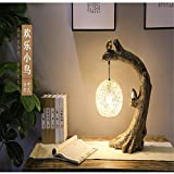 Tischlampe,Nachttischlampen,Chinesische Retro- Gartentischlampen Hand Gesponnenes Klassisches Kunsttischlampenschlafzimmernachttischhaus Einfache Dekorative Beleuchtung