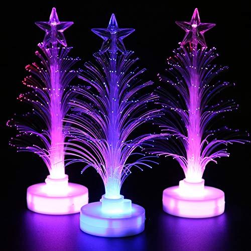 f09e440e875  Decoración de Navidad  – Lámpara LED de Navidad multicolor de fibra de  árbol de