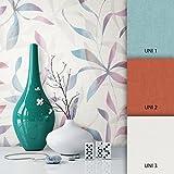 NEWROOM Blumentapete blau Vliestapete türkis floral,Modern schöne moderne und edle Design Optik, inklusive Tapezier Ratgeber