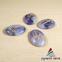 Amatista Reiki símbolo cabujón naturales Chakra Balancing libre juego de pirámide de lapislázuli...