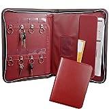Porte Document A4 Portefeuille de portefeuille Padfolio à fermeture à glissière avec fente pour carte-clé, poche, bloc-notes, étui en cuir, résistant à la poussière pour les agents immobiliers...