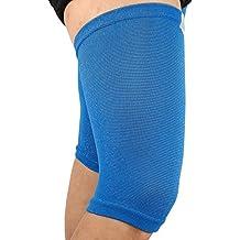 1Par - Rodillera de Compresión Transpirable Elástica Deportiva para Correr Crossfit Ciclismo Lesión Dolor Artritis (Tamaño L) ( Color : Sky Blue )